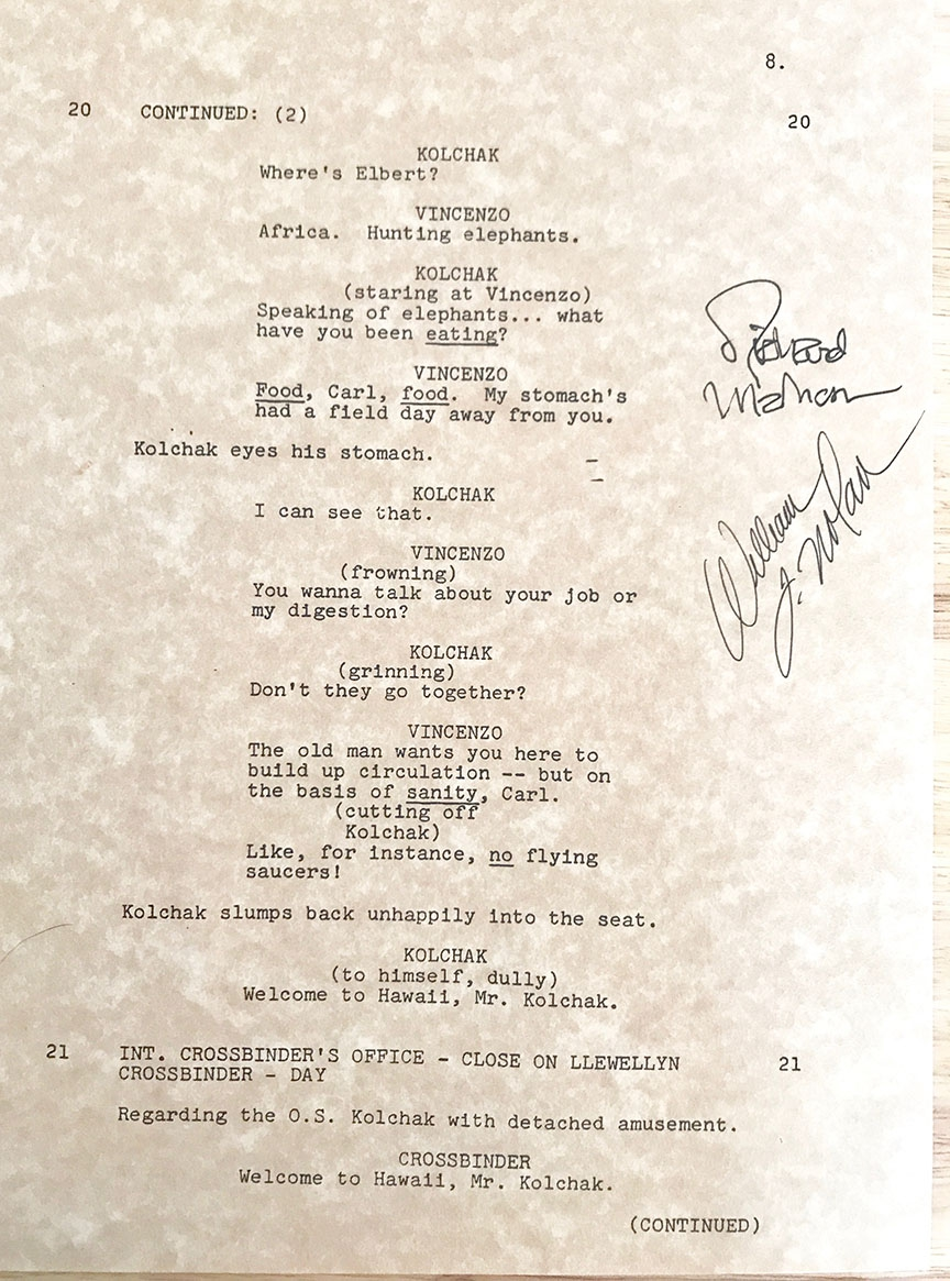 Signed Manuscript Pages from Richard Matheson